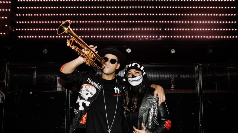 "Timmy Trumpet & Lady Bee Release New Anthem ""Trumpets"""