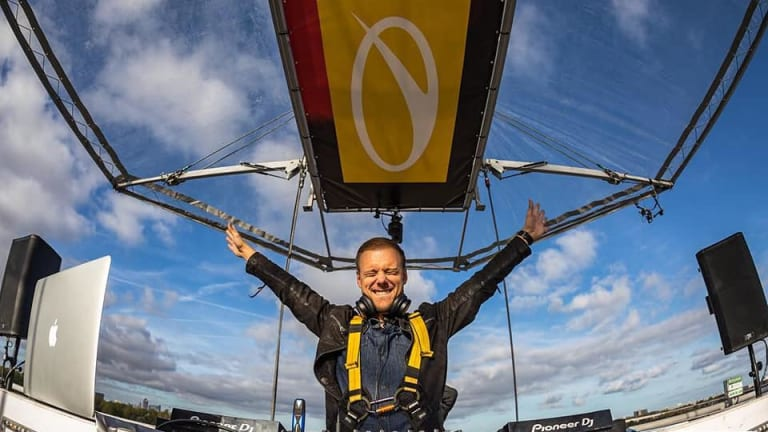 Watch Armin van Buuren Drops the New ASOT 900 Anthem from 200 Feet in the Air
