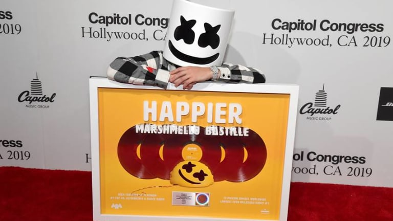 "Marshmello Receives Plaque for Selling Over 5 Million Copies of ""Happier"""