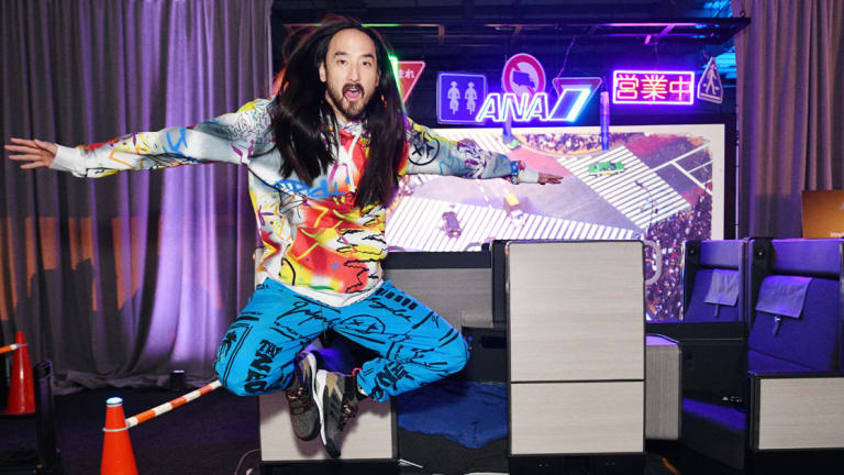 Steve Aoki Gives a Sneak Preview of Neon Future IV at All Nippon Airways Celebration