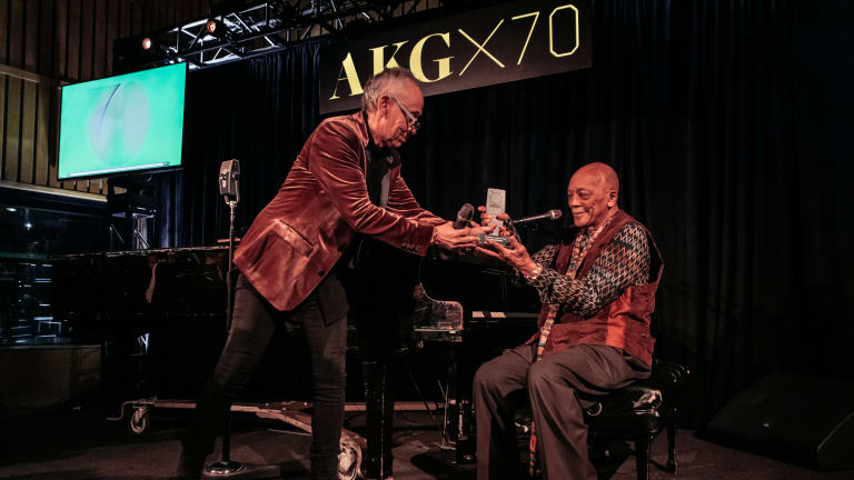 Quincy Jones Honored with Lifetime Achievement Award at 70th Anniversary of AKG