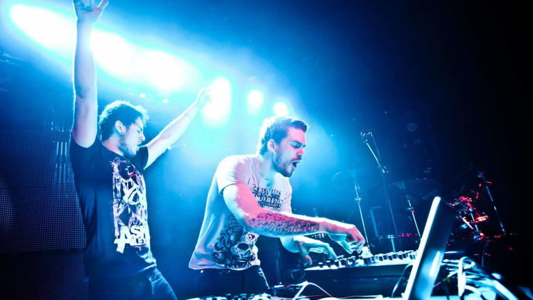 Adventure Club Debut Collab with Quix and Craig Owens of Chiodos at Hollywood Palladium