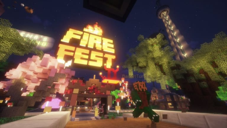 Minecraft Pulls Off Biggest Virtual Music Festival Yet with Fire Festival