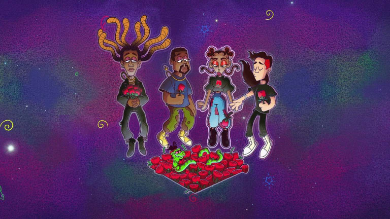 """Ty Dolla $ign, Skrillex, Kanye West, and FKA Twigs Drop Kaleidoscopic """"Ego Death"""" Animated Video"""