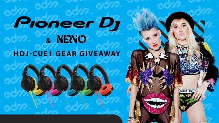Win a Pair of Pioneer DJ's New Color-Splashed HDJ-CUE1 DJ Headphones