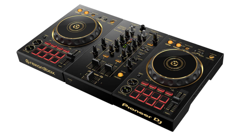 Pioneer's Limited Edition DDJ-400-N Controller is a Portable, Gold-Dipped Nugget for Precision DJing