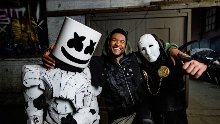 "Watch the Cyberpunk Music Video for Marshmello, Usher and Imanbek's ""Too Much"""