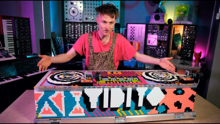 Watch This Artist Build a Functional Vinyl DJ Deck Out of LEGO Bricks