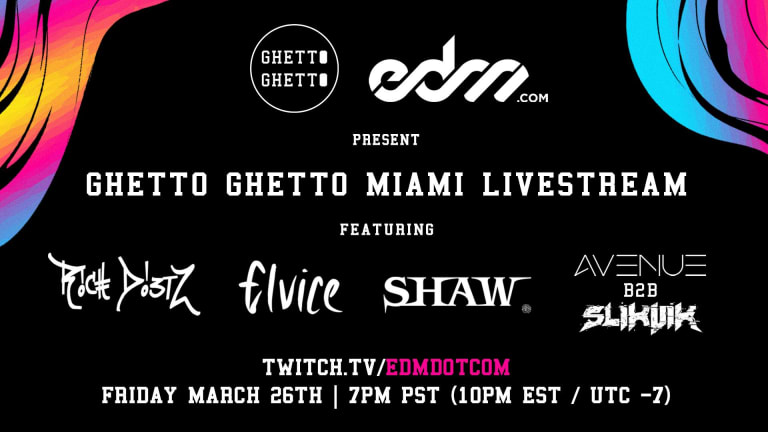 """Watch Live: Ghetto Ghetto Records' Can't-Miss """"Miami IV"""" Stream, Powered by EDM.com"""