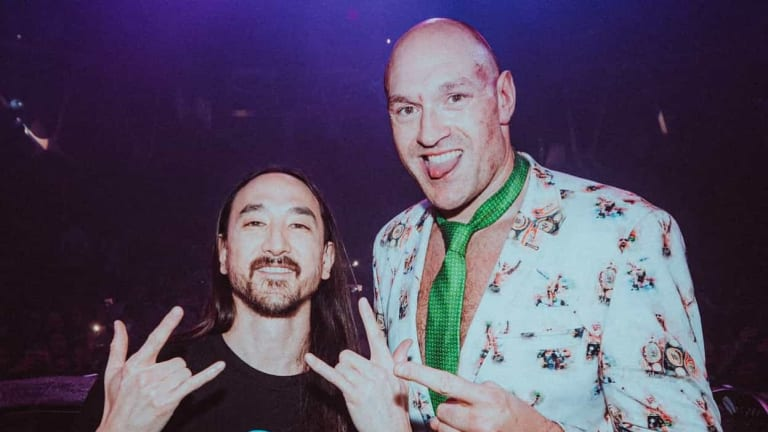 Tyson Fury Joins Steve Aoki Onstage at Hakkasan After Defeating Deontay Wilder