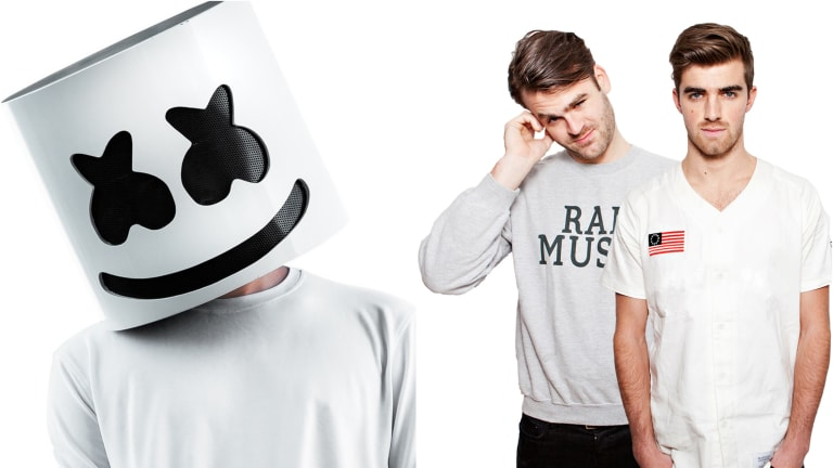 "Marshmello and The Chainsmokers Land On Forbes' 2020 ""Highest Paid Celebrities"" List"