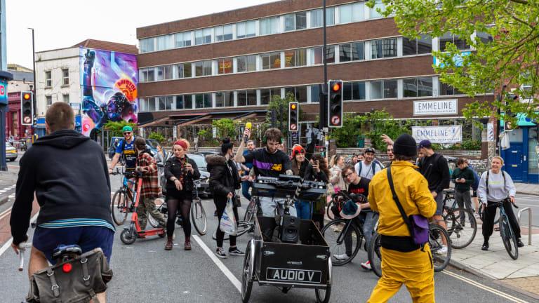 Watch This DJ Rip Drum & Bass DJ Sets While Riding His Bike Around the UK