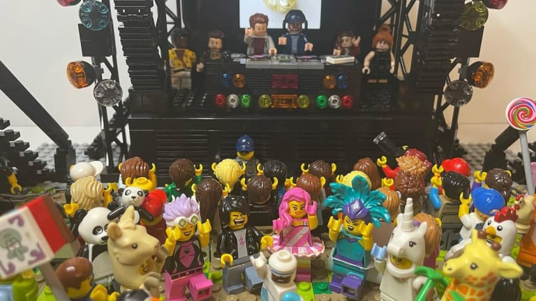 Somebody Built an Elaborate LEGO Rave With Strobe Lights, Turntables and Totems