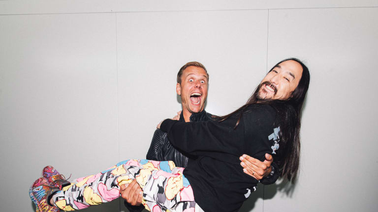 """Steve Aoki and Armin van Buuren Join Forces for First-Ever Collab, """"Music Means Love Forever"""""""