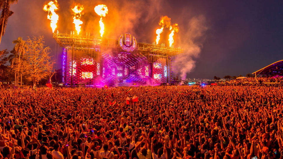 Ultra Music Festival's New Main Stage on Virginia Key Captured in Drone Footage