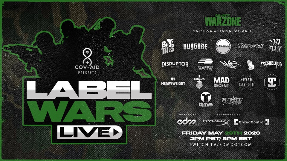 EDM.com Presents Label Wars: A Call of Duty Tournament for COVID-19 Relief