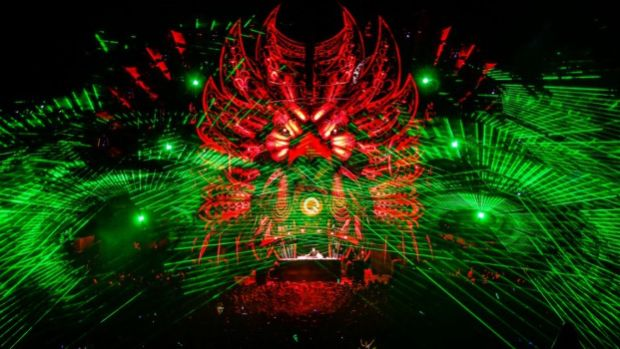 Laser Light-show at Popular Music Festival