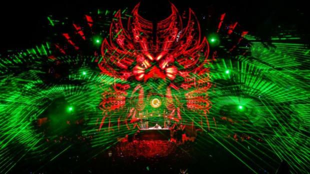 Laser Light-show at Popular Music Festival