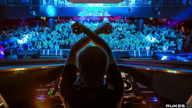 Excision performs at an intimate venue