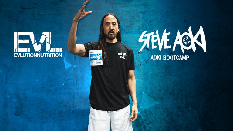 EVL Partners with Steve Aoki on a Neon Blueberry ENGN Shred Pre-Workout