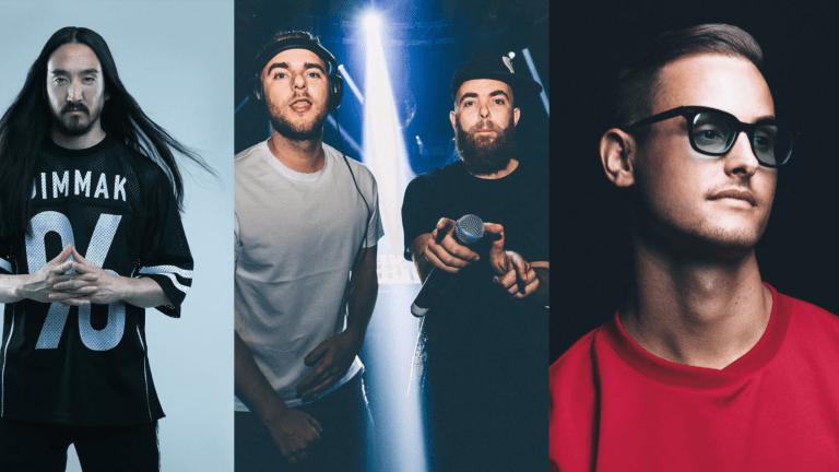 "Steve Aoki Teams Up with Showtek and MAKJ to Drop ""Rave"" ft. Kris Kiss"