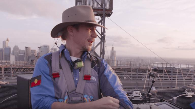 Diplo Performs Atop The Sydney Harbor Bridge
