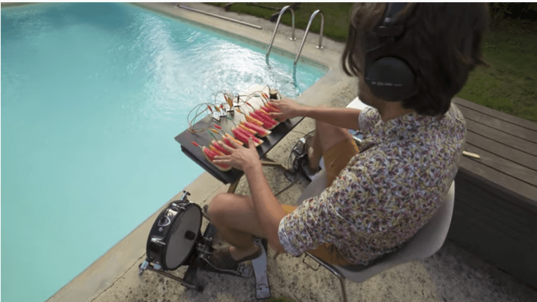 Watch This Musician Create a Funky Dance Track with Watermelon and Kiwi as His Instruments