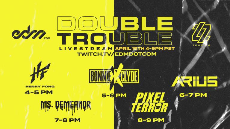 EDM.com Announces Double Trouble Live Stream