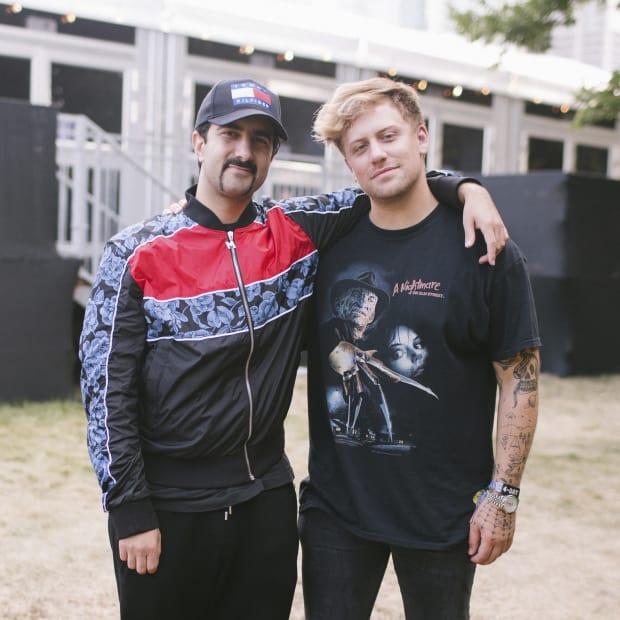 A press photo of producers Valentino Khan and Kayzo.
