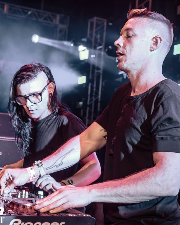 Diplo and Skrillex performing at Ultra Music Festival as Jack Ü.
