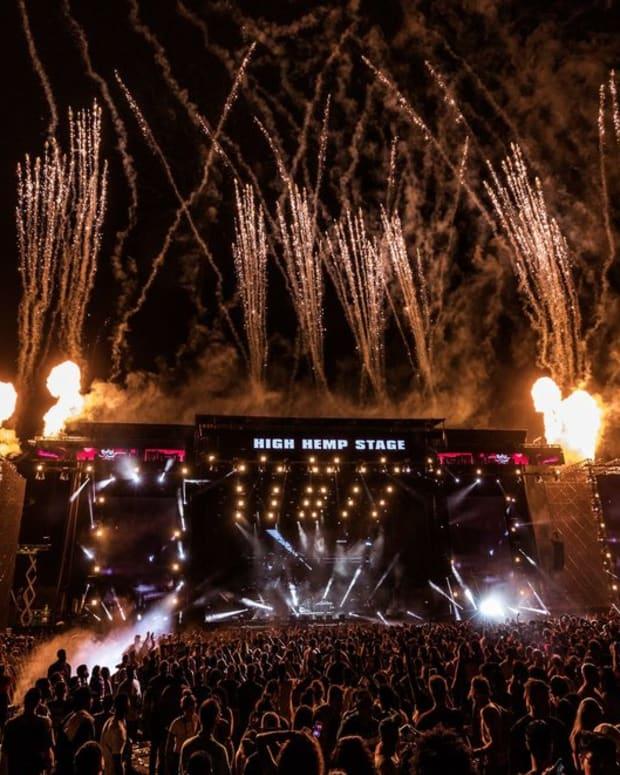 ROlling Loud High Hemp Stage Firework Shot