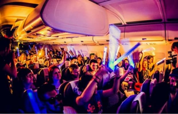 Fans are Treated to a Mini Rave Courtesy of Ganja White Night On a Grounded Airplane Returning from Lost Lands