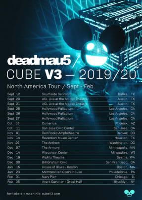 deadmau5 cube v3 tour stops