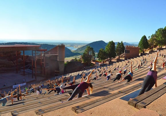 Take A Look Inside The Return Of Yoga On The Rocks At Red Rocks Amphitheatre Edm Com The Latest Electronic Dance Music News Reviews Artists