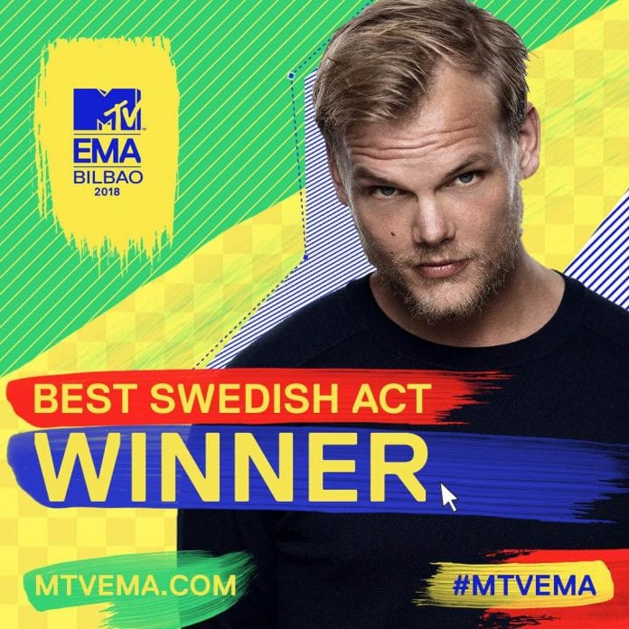 Avicii Wins Posthumous MTV EMA For Best Swedish Act