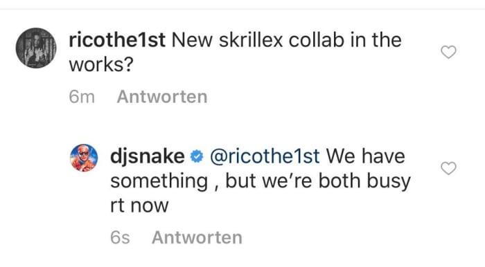 DJ Snake Reveals that He and Skrillex Have Something in the Works
