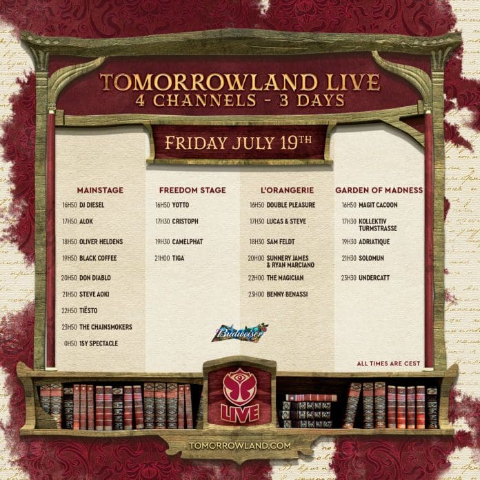 Tomorrowland Releases 2019 Live Stream Schedule