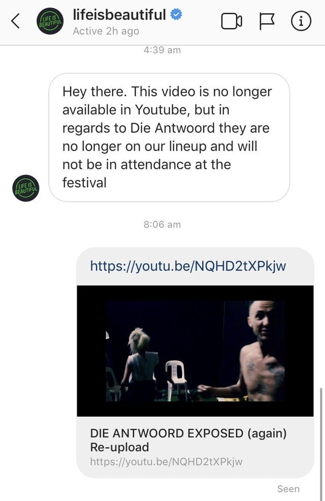 Die Antwoord Dropped from Festival Lineups After Video of Apparent Hate Crime Surfaces