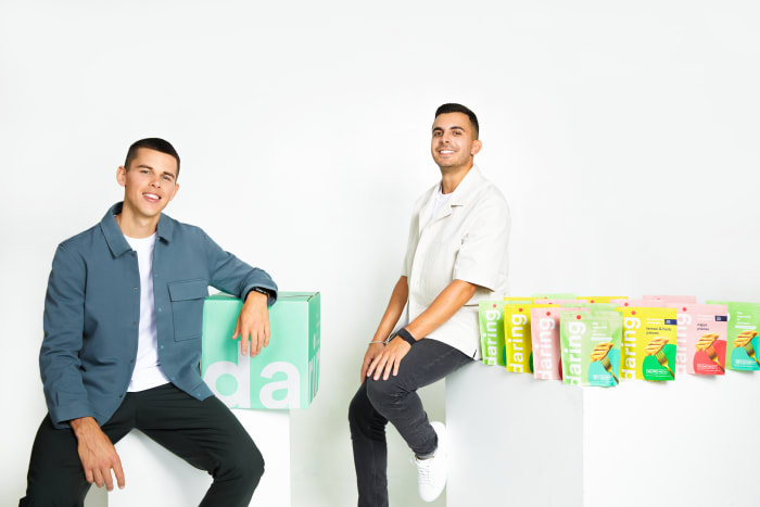daring Co-founder and CEO Ross Mackay (left) and Co-founder and COO Eliott Kessas (right)