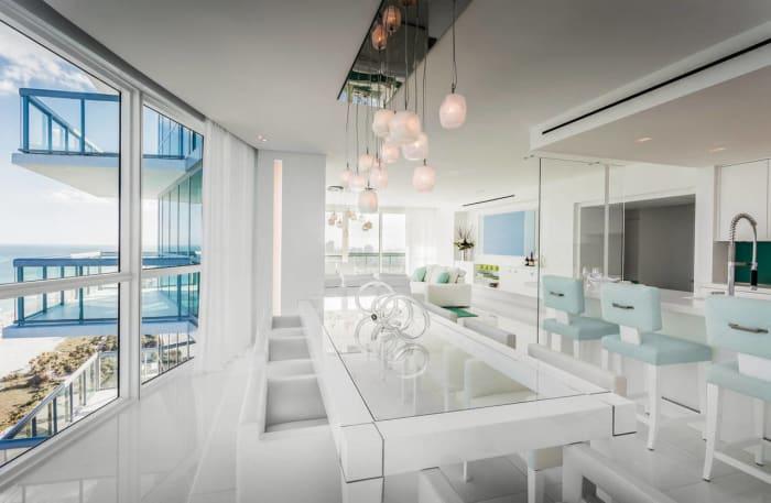 David Guetta's Miami condominium is located on the 37th floor of the Setai Hotel & Residences.