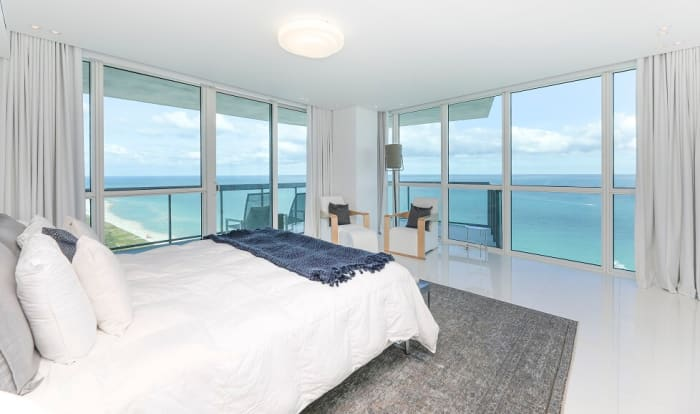 View from the bedroom of David Guetta's $14 million Miami condo, which is available to purchase usingcryptocurrency like Bitcoin andEthereum.