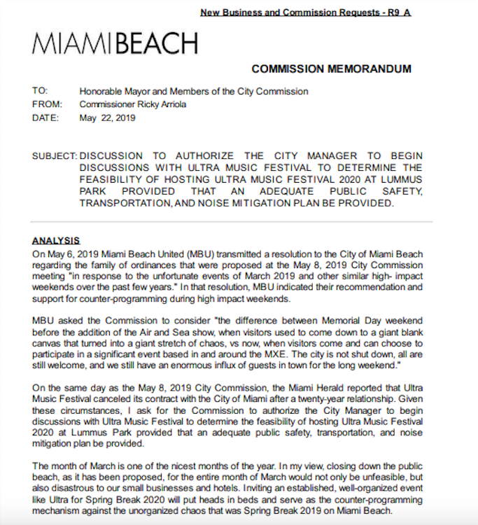 Could Ultra Relocate to Miami Beach Instead of Homestead in 2020?