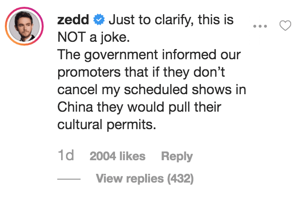 Zedd's China Travel Ban Confirmed, Government Forced Promoters to Cancel Shows