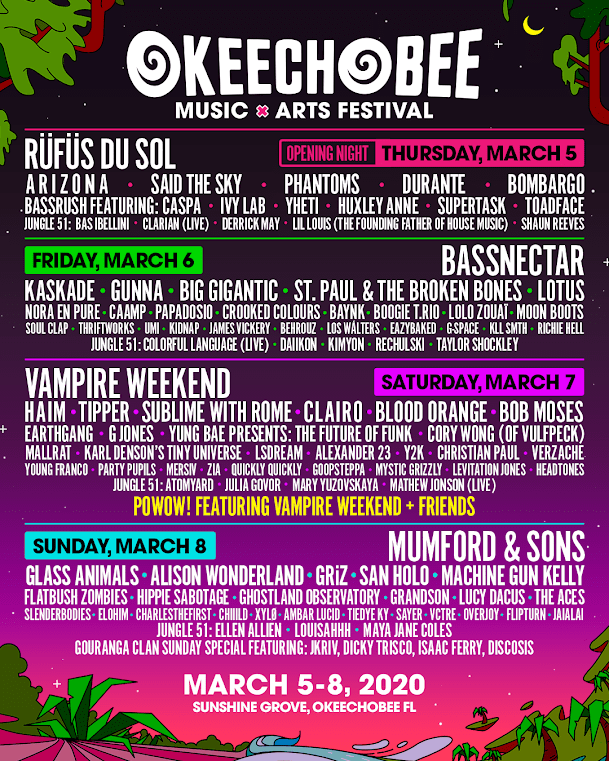 Okeechobee Music & Arts Festival Drops Final Additions to 2020 Lineup