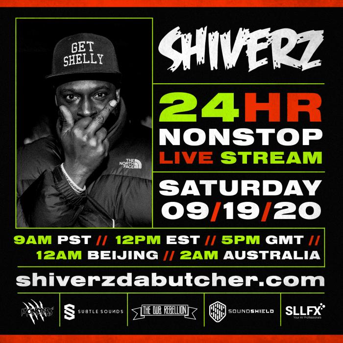 Shiverz Live Stream Flyer