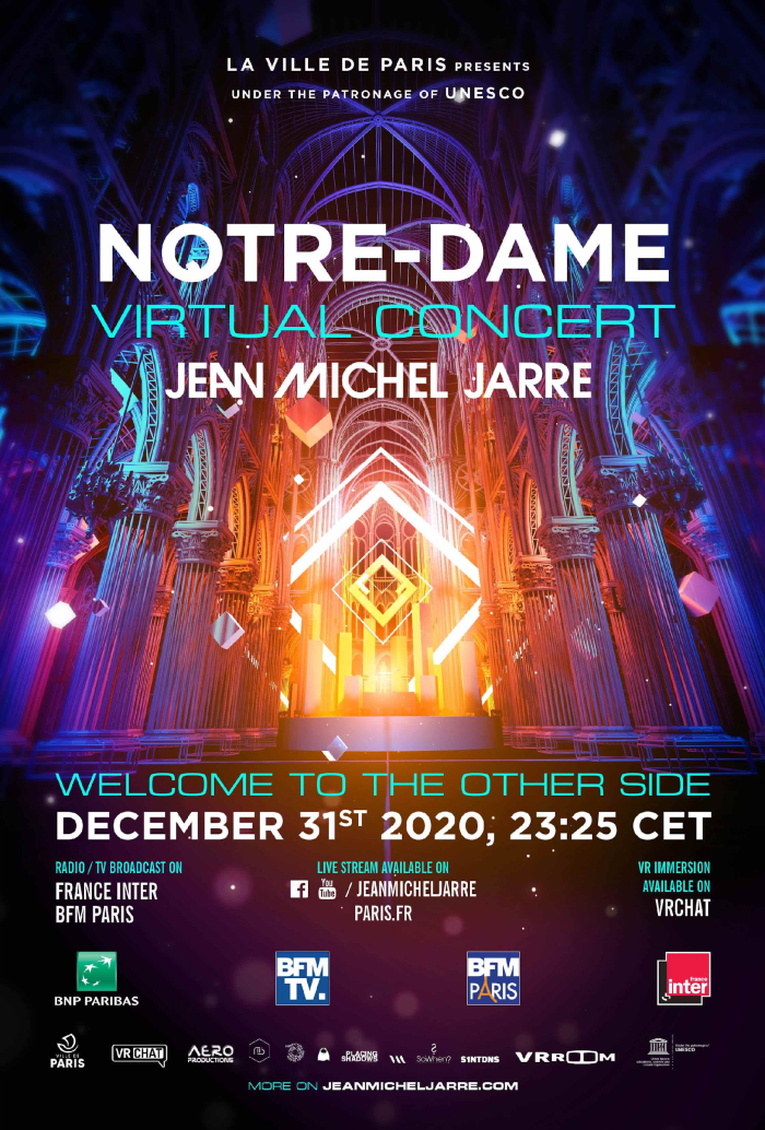 Jean-Michel-Jarre به جریان دیگر خوش آمدید به طرف دیگر NYE