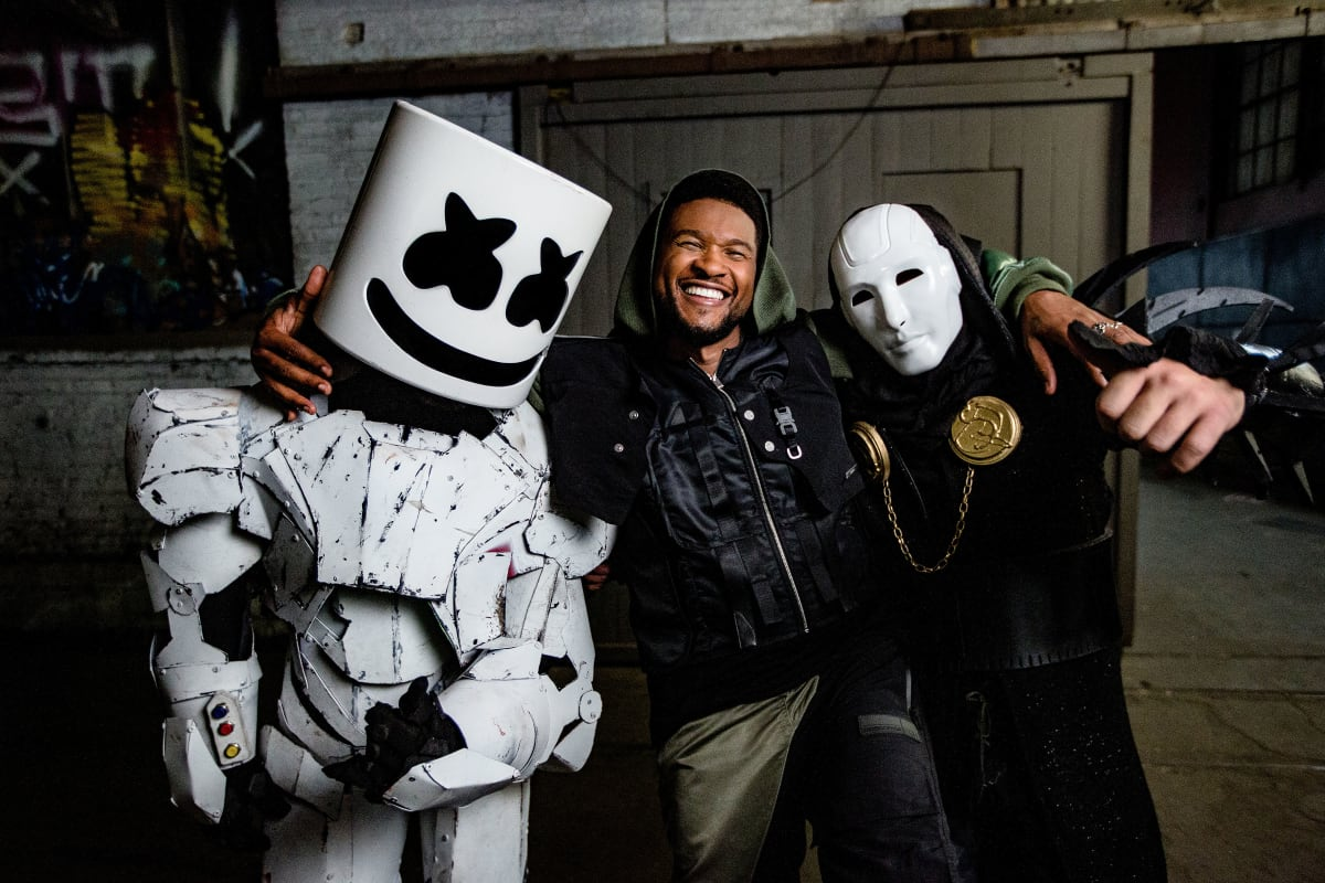 "Watch the Cyberpunk Music Video for Marshmello, Usher and Imanbek's ""Too Much"" - EDM.com"