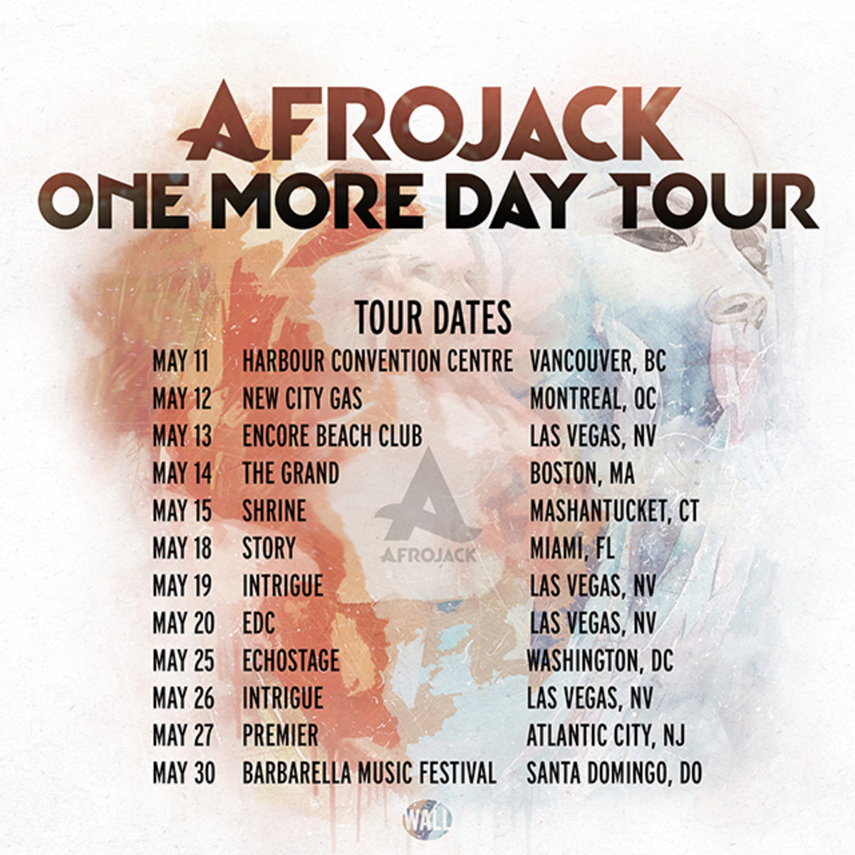 Afrojack One More Day Tour Poster