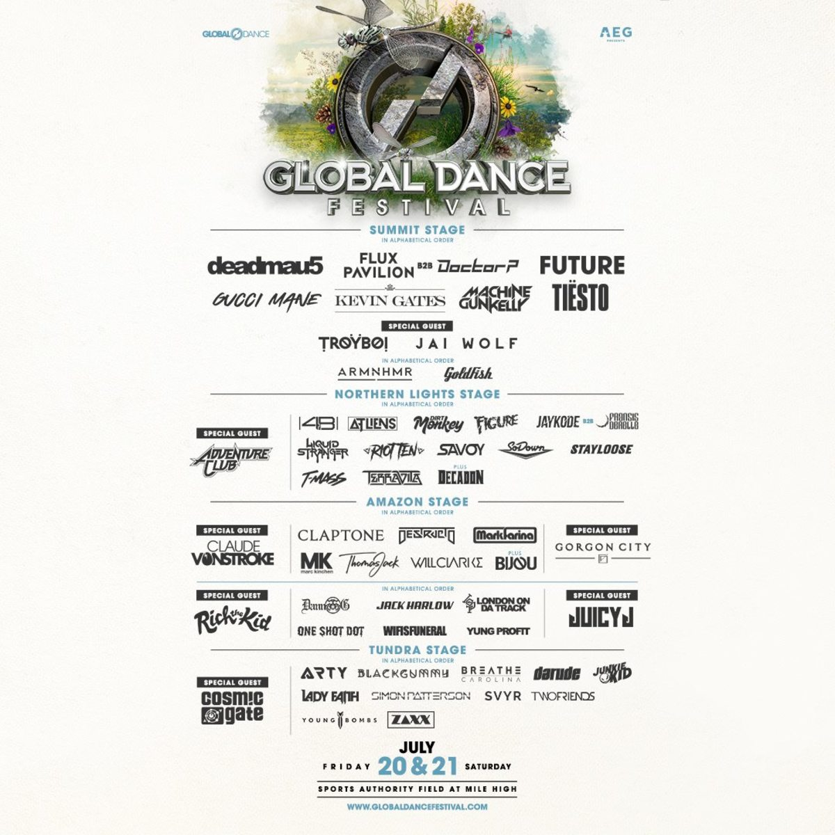 Global Dance Festival 2018 Line-Up