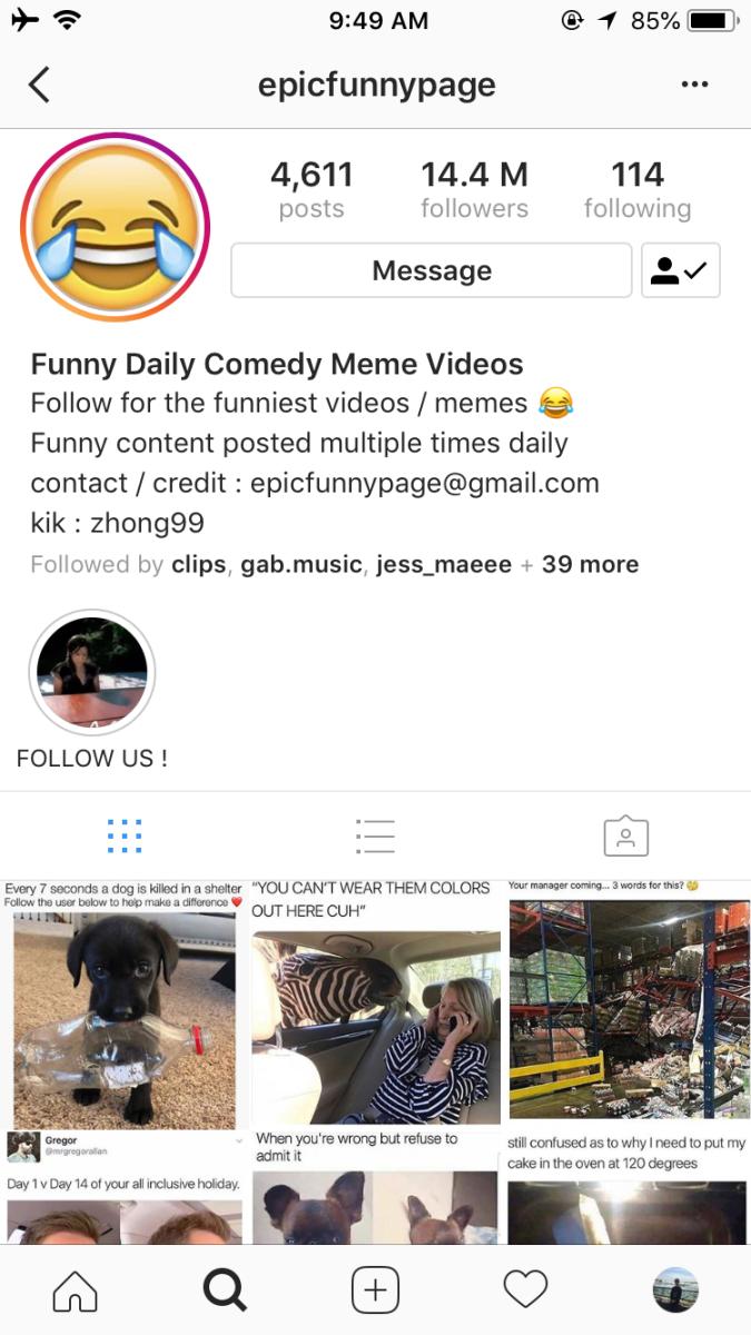 EpicFunnyPage/Instagram